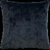 Gunmetal Grey Plush Velvet Cushion front - julie London
