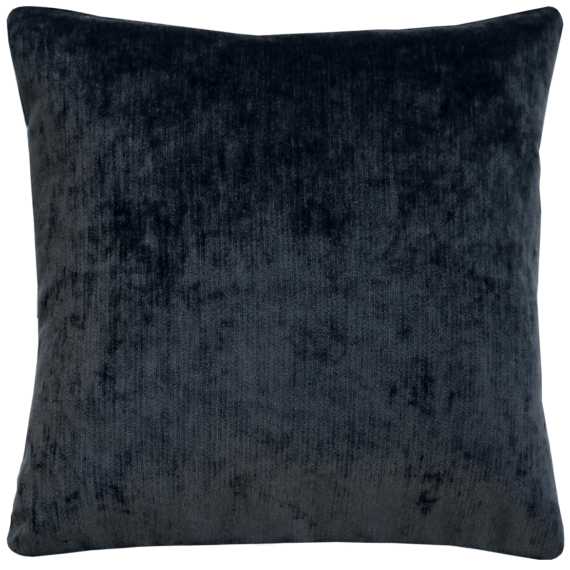 Gunmetal Grey Plush Velvet Cushion front – julie London