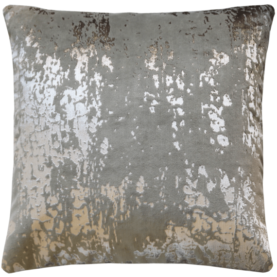 Industrial Glam Silver Printed Velvet Cushion back- Julie London