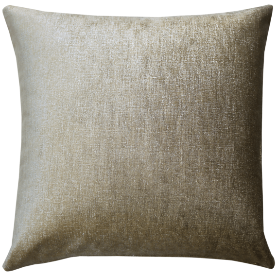 Metallic Nickel Plush Velvet Cushion back - Julie London