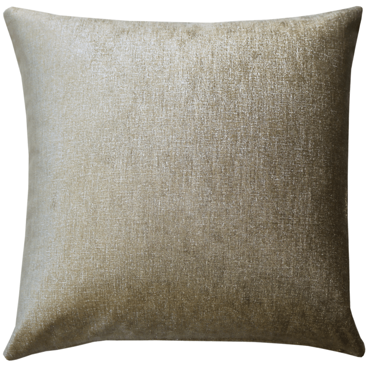 Metallic Nickel Plush Velvet Cushion back - Julie London