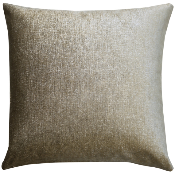 Metallic Nickel Plush Velvet Cushion front – Julie London