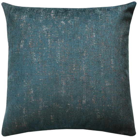 Luxury Velvet Cushion Mottled Teal back - Julie London