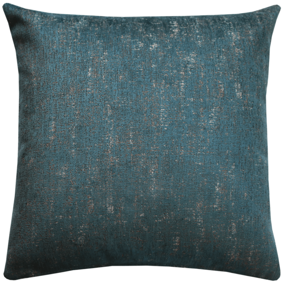 Luxury Velvet Cushion Mottled Teal front – Julie London
