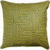 Art Deco style lemon lime velvet cushion back - julie london