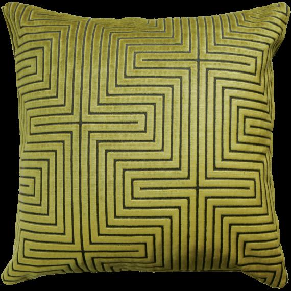 Art Deco style lemon lime velvet cushion back - julie london