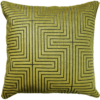 Art Deco style lemon lime velvet cushion front - julie london