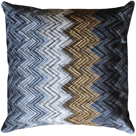 Velvet Cushion Autumnal Zig Zag front – Julie London