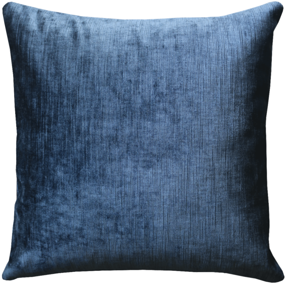 Midnight Blue Soft Velvet Cushion back - Julie London