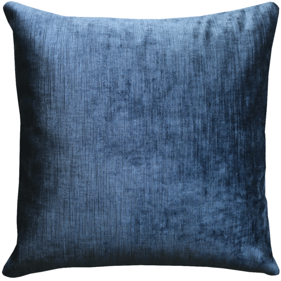 Midnight Blue Soft Velvet Cushion front – Julie London