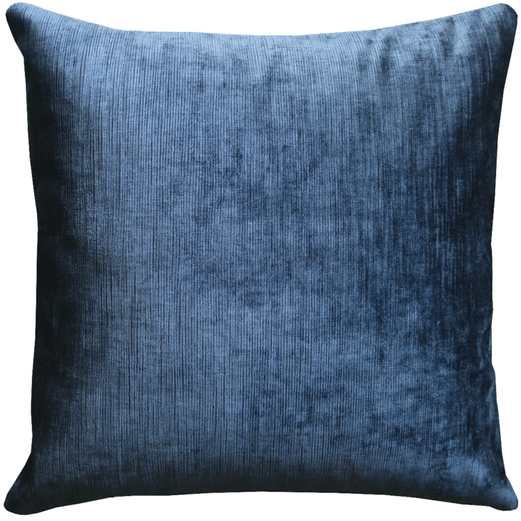 Midnight Blue Soft Velvet Cushion front - Julie London