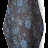 Brown Blue Vintage Linen Maxi Dress back