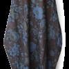 Brown Blue Vintage Linen Maxi Dress front