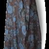 Brown Blue Vintage Linen Maxi Dress side