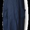Dark Navy Linen Blend Maxi Dress - Julie London front