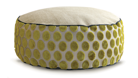 Small Dog Bed - Velvet Lime Spot 2 - Julie London