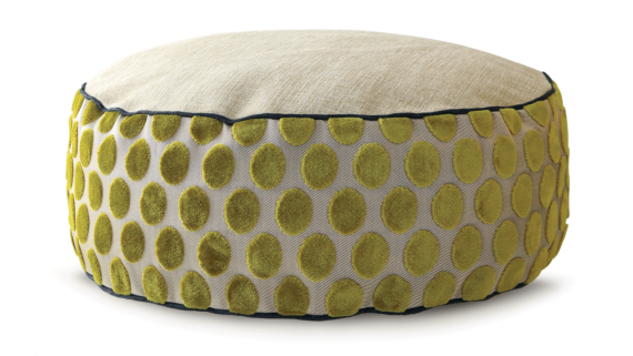 Small Dog Bed – Velvet Lime Spot – Julie London