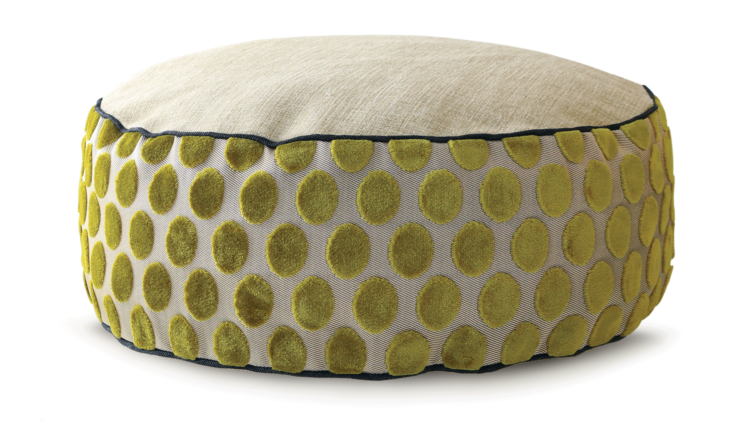 Small Dog Bed - Velvet Lime Spot - Julie London
