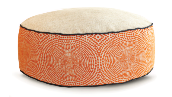 Small Dog Bed - Cream Orange Velvet 2 - Julie London Design Sydney