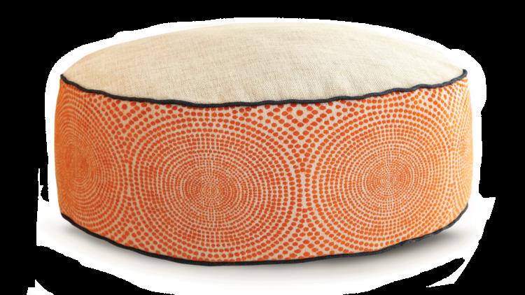 Small Dog Bed- Cream Orange Velvet 2 - Julie London Design Sydney