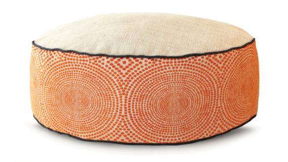 Small Dog Bed – Cream Orange Velvet – Julie London Design Sydney