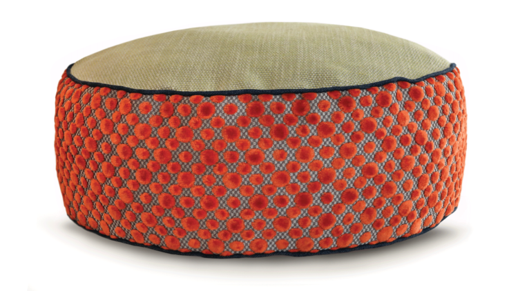 Small Dog Bed - Orange Dot Velvet 2 - Julie London Design Sydney