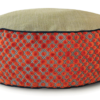 Small Dog Bed - Orange Dot Velvet - Julie London Design Sydney