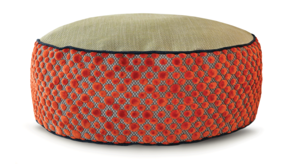 Small Dog Bed – Orange Dot Velvet – Julie London Design Sydney