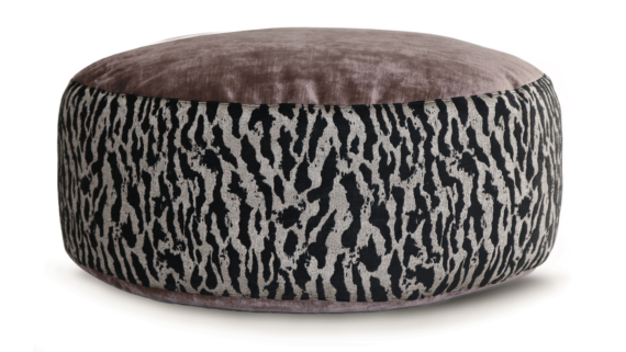 Small Dog Bed - Mauve Velvet Tiger Print 2 - Julie London