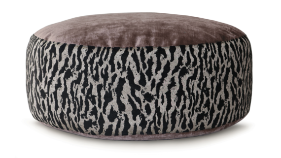 Small Dog Bed – Mauve Velvet Tiger Print – Julie London