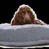 Velvet Dog Bed Large Blue Grey Hero - julie London