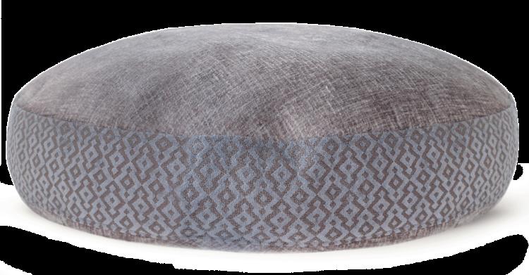 Velvet Dog Bed Large Blue Grey - julie London