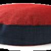 Velvet Dog Bed Large Red Navy - Julie London