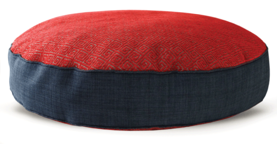 Velvet Dog Bed Large Red Navy – Julie London