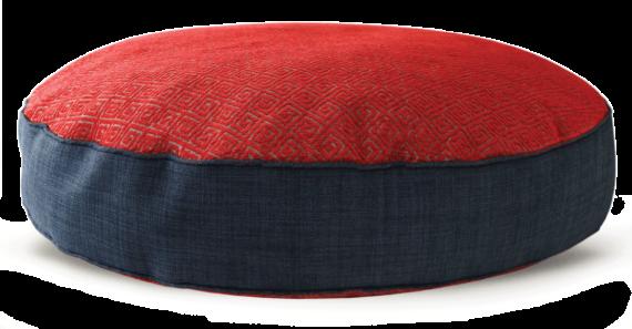 Velvet Dog Bed Large Red Navy – Julie London