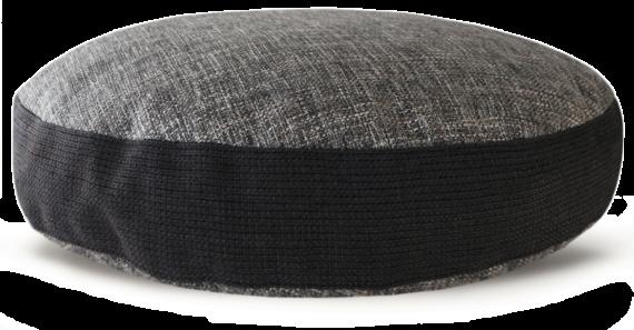 Hard Wearing Dog Bed LargeBlack Grey – luxury black grey heavy weight upholstery fabric