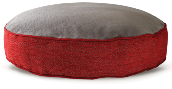 Velvet Dog Bed Large Red Grey – Julie London