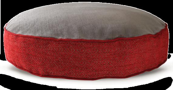 Velvet Dog Bed Large Red Grey – Julie London