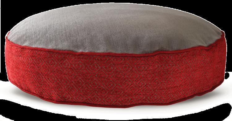 Velvet Dog Bed Large Red Grey - Julie London