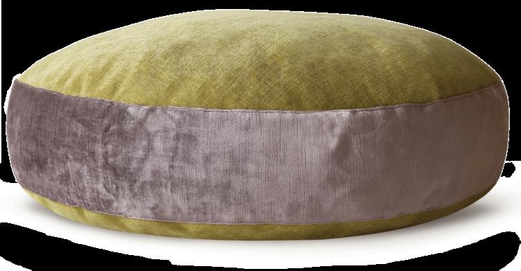 Luxury Velvet Dog Bed Large Mauve Lime - julie London