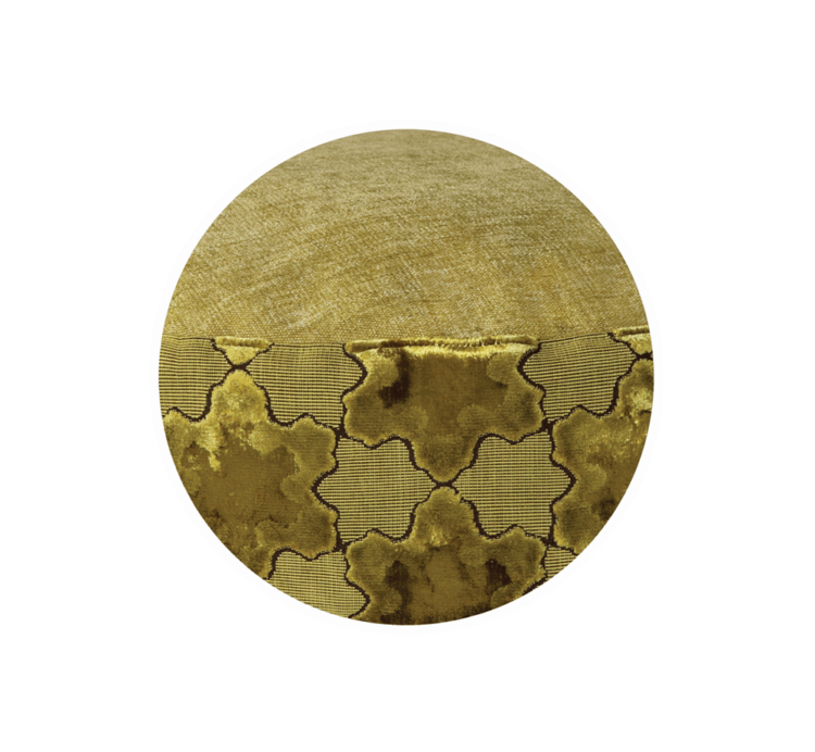 Luxury Pet Bed Medium Gold Velvet close up - Julie London