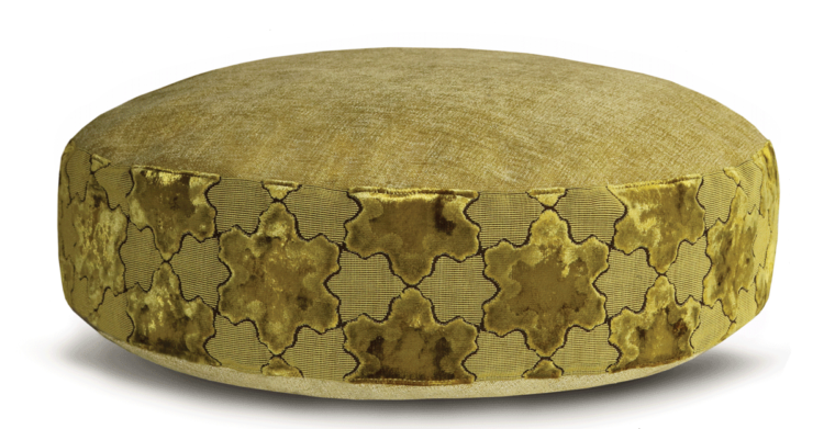 Luxury Pet Bed Medium Gold Velvet back - Julie London