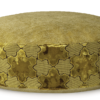 Luxury Pet Bed Medium Gold Velvet front - Julie London