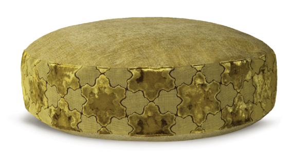 Luxury Pet Bed Medium Gold Velvet front – Julie London