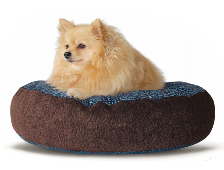 Designer Pet Bed MediumBlue BrownVelvet hero - Julie London