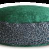 Designer Dog Bed mediumGreenVelvet Leopard Print back - Julie London