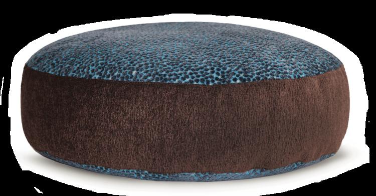 Designer Pet Bed MediumBlue BrownVelvet back - Julie London
