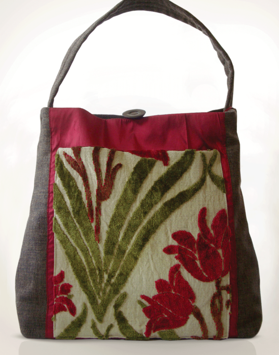 Mother Hen Large Tote Bag Velvet Tulip front – julie london Design