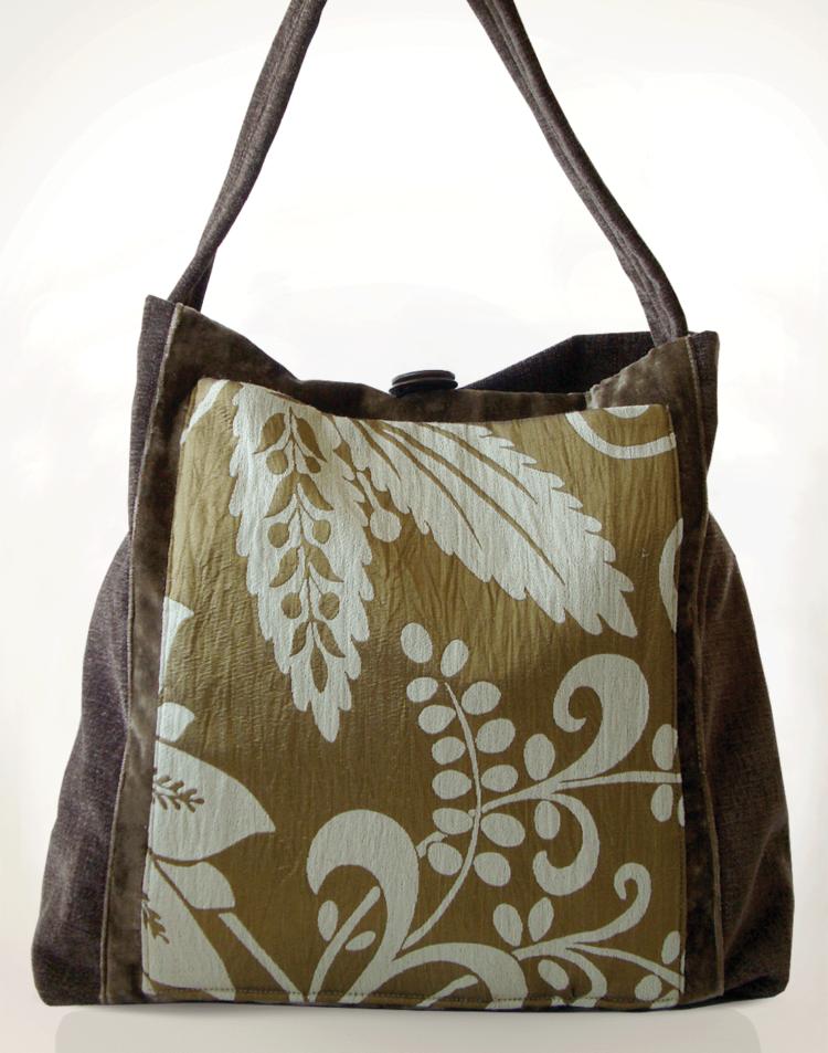 Mother Hen Large Tote Bag Gold Brown front - Julie London Design