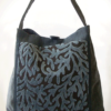 Mother Hen Large Tote Bag Blue Grey Coral front - Julie london Design